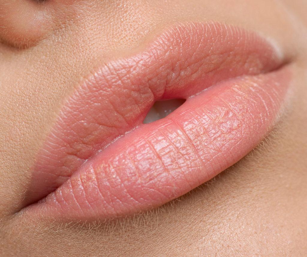 Макияж губ естественный цвет фото